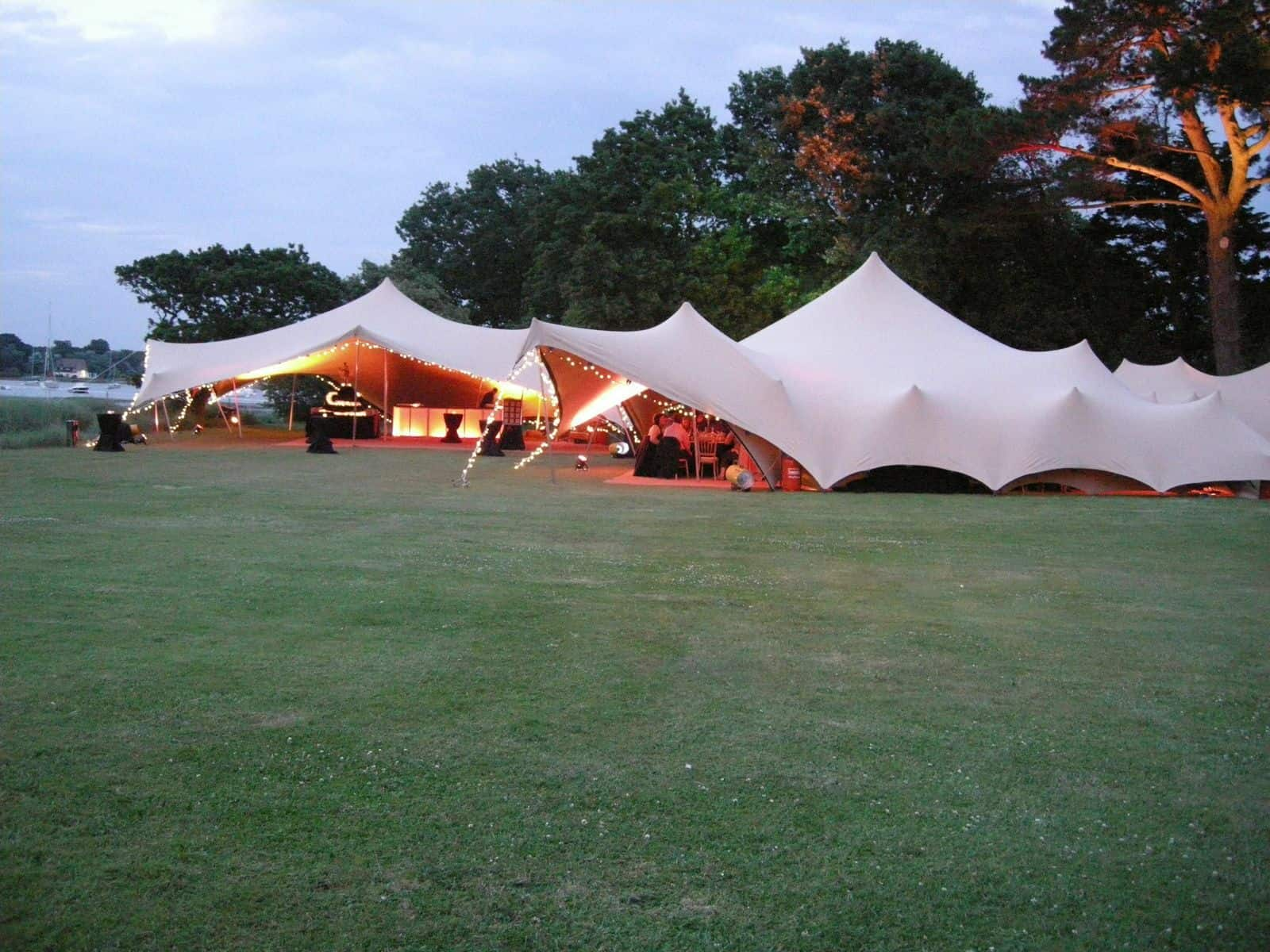 Stretch Tent Next To River